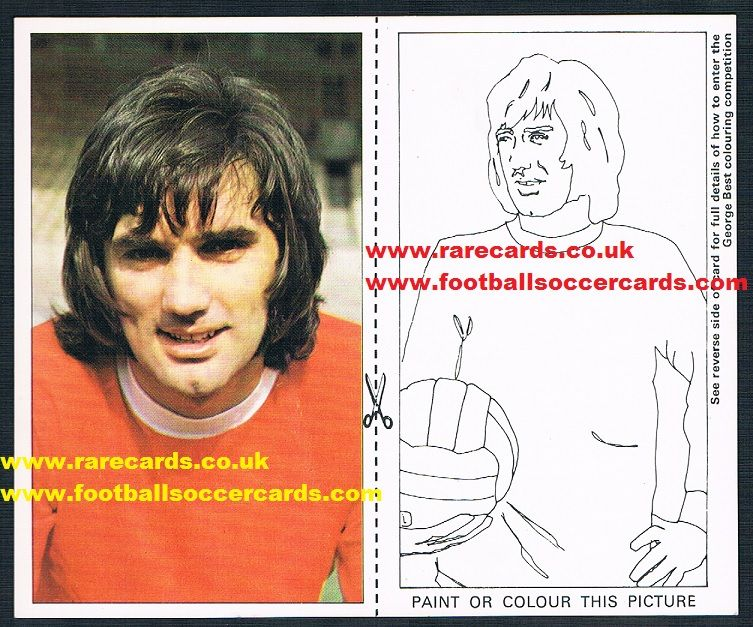 1970 George Best Smiths Black-back A10 card