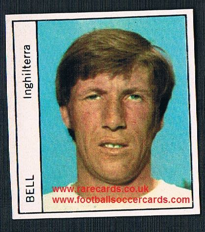 1970 Italy PEOPLE MAG Colin Bell Man City unused sticker