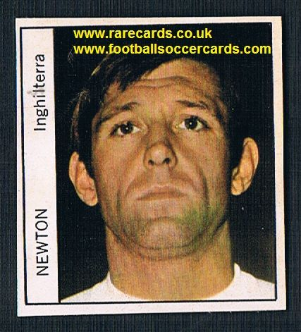 1970 Italy PEOPLE MAG Keith Newton Burnley Everton unused sticker