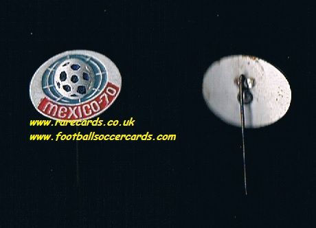 1970 oval Jules Rimet WC70 Mexico 70 World Cup WM70 metal badge with pin