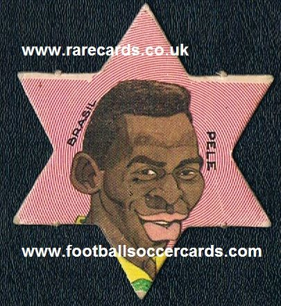 1970 Pelé star card from Argentina