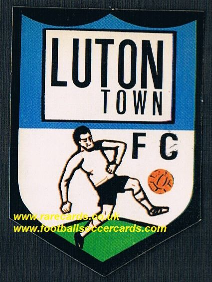 1972 BAB Luton Town unused PVC sticker with backing paper