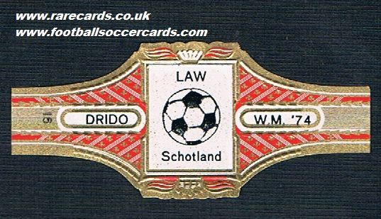 1974 Denis Law Drido cigar band
