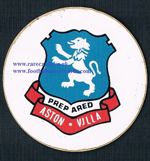 1974 Lucky Bag FasPrint sticker Aston Villa