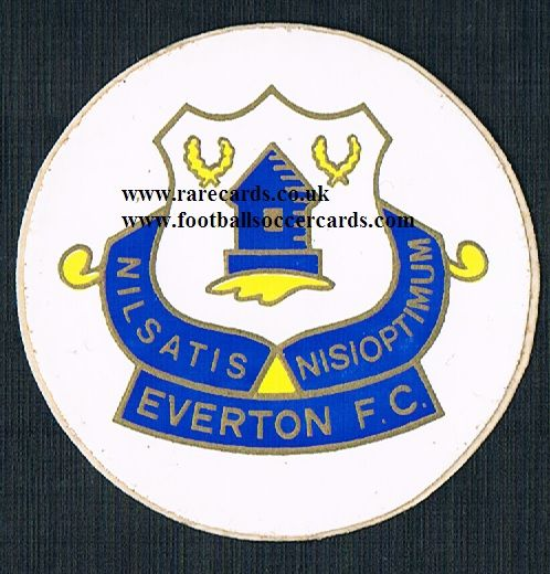 1974 Lucky Bag FasPrint sticker Everton