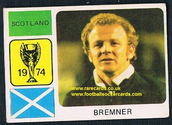 1974 Monty World Cup WC74 sticker Billy Bremner