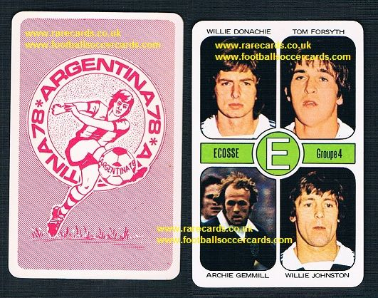 1978 AGEducatifs Argentina 78 Scotland E Willie Johnston WBA Gemmill NF Donachie Forsyth