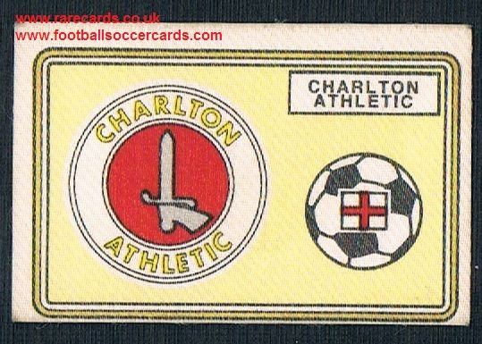 1979 Panini Football 79 silk sticker w backing paper, near new 393 Charlton Athletic