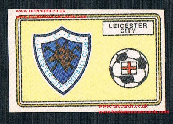 1979 Panini Football 79 silk sticker w backing paper, near new 399 Leicester City