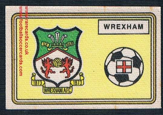 1979 Panini Football 79 silk sticker with backing paper, almost as good as new 423 Wrexham