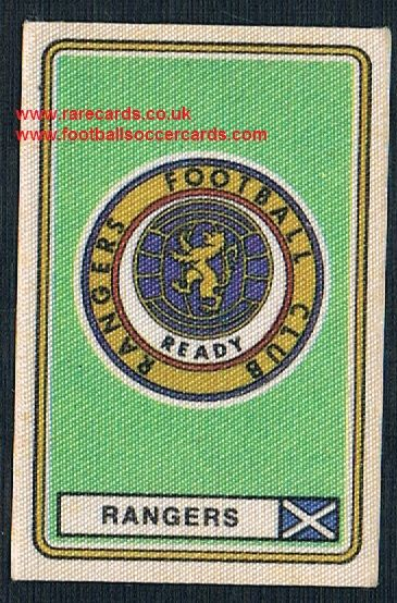 1979 Panini Football 79 silk sticker with backing paper, almost as good as new 561 Rangers