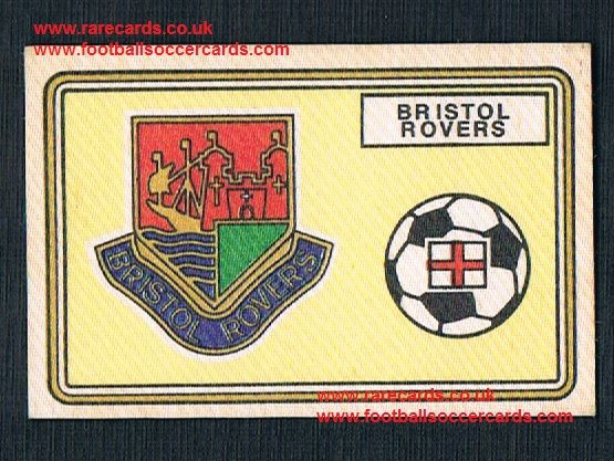 1979 Panini Football 79 silk sticker with backing paper, almost as good as new Bristol Rovers 385