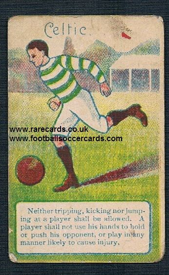 c.1900 Troman Rules of the game card Glasgow Celtic