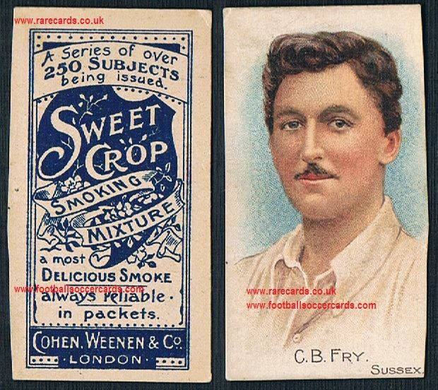 Wide cut 1900 Charles Burgess Fry Sweet Crop 250 Cohen Weenen